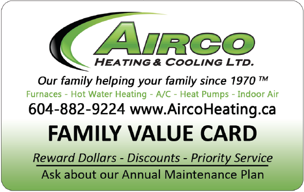 Register your Airco Loyalty Rewards Card